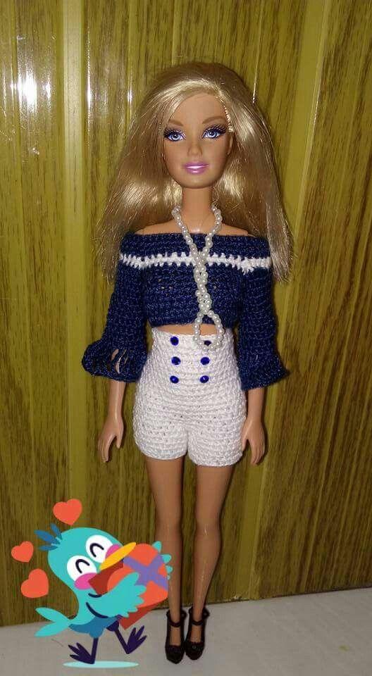 Pin Von Diana Castelijn Auf New Crochet Barbie Pinterest Diy