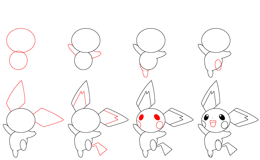 How To Draw Pichu Dibujos Kawaii Dibujos Sencillos Como Dibujar Un Pokemon