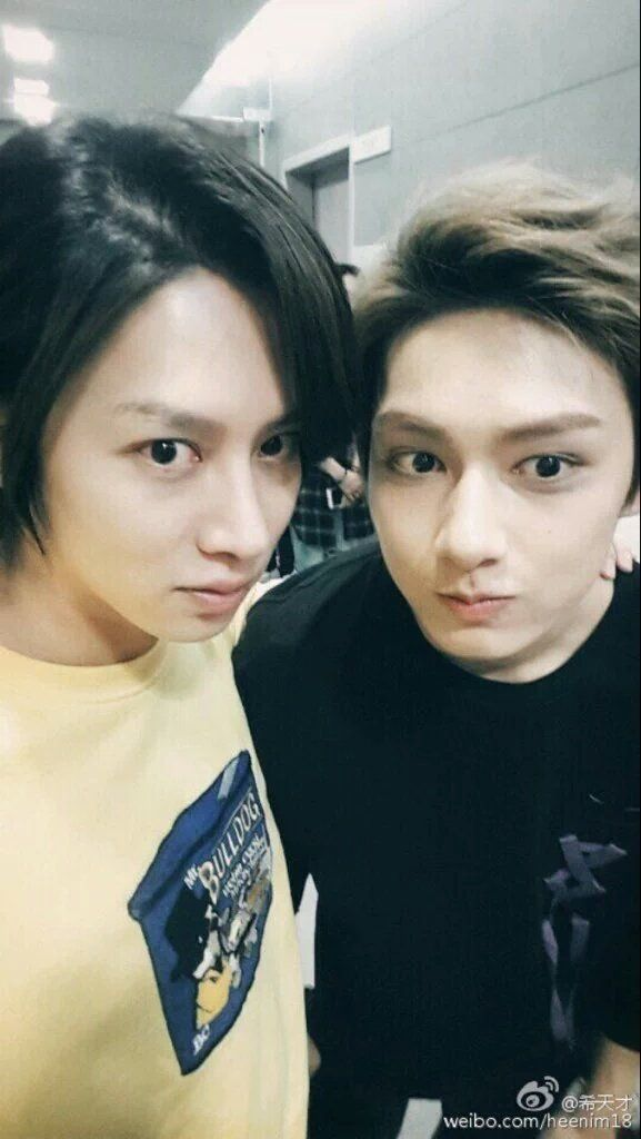 jun with heechul Long lost brother finally met each other