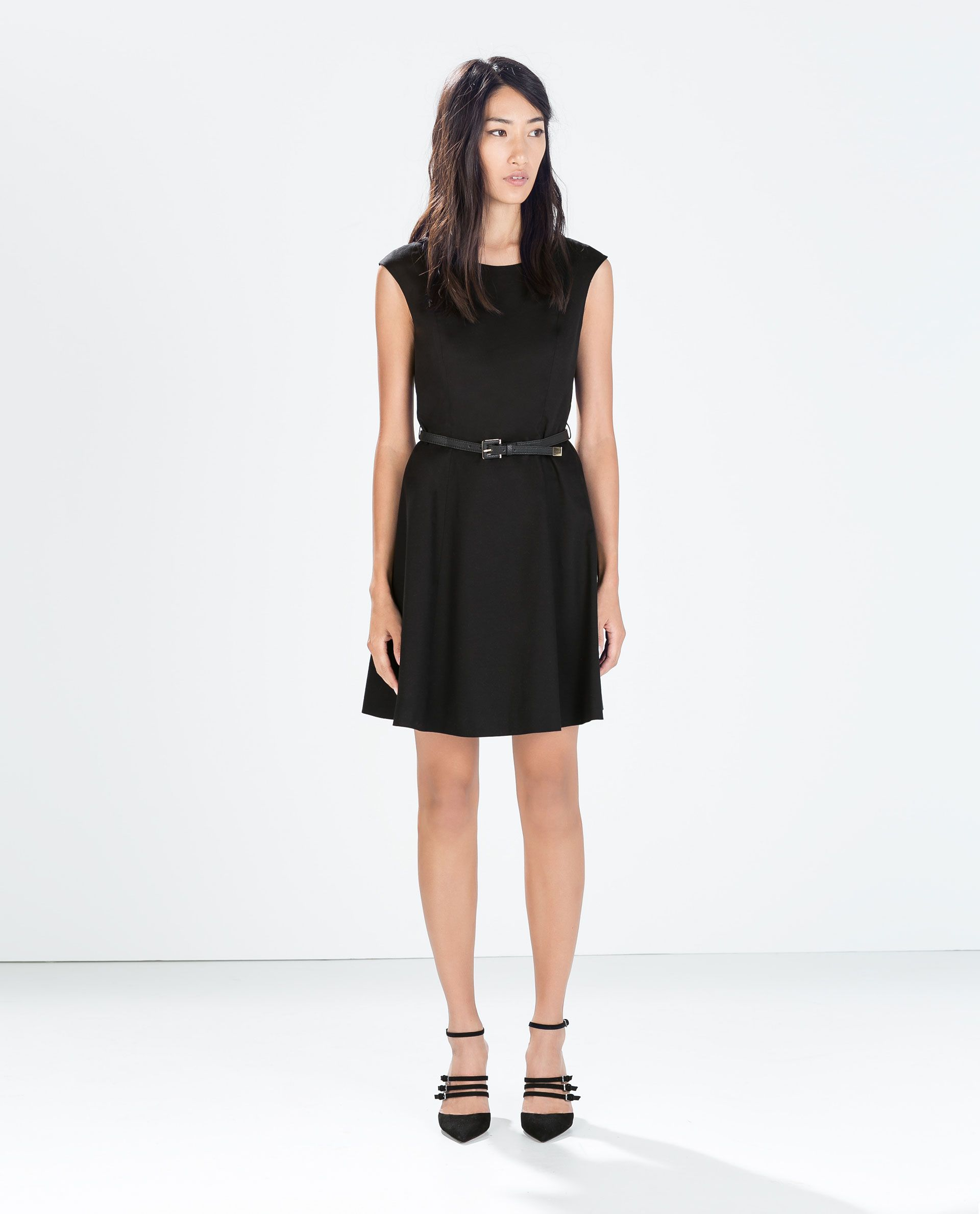 Image 1 of DRESS WITH BELT from Zara