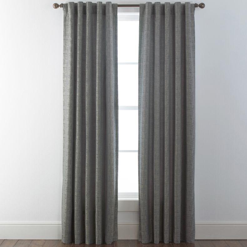 Jcpenney Studio Glacier Rod Pocket Back Tab Curtain Panel