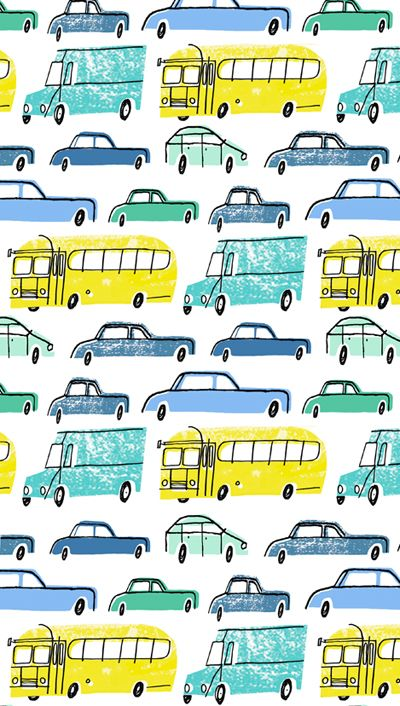 sketched cars pattern by alannah cavanagh