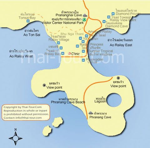 Railay map Travel Pinterest Krabi and Resorts
