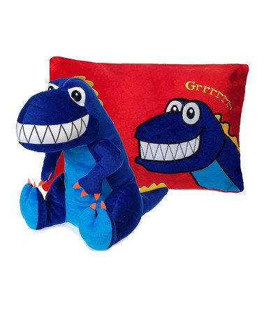 This 18'' Dinosaur Peek-a-Boo Plush/Pillow by Fiesta is perfect! #zulilyfinds