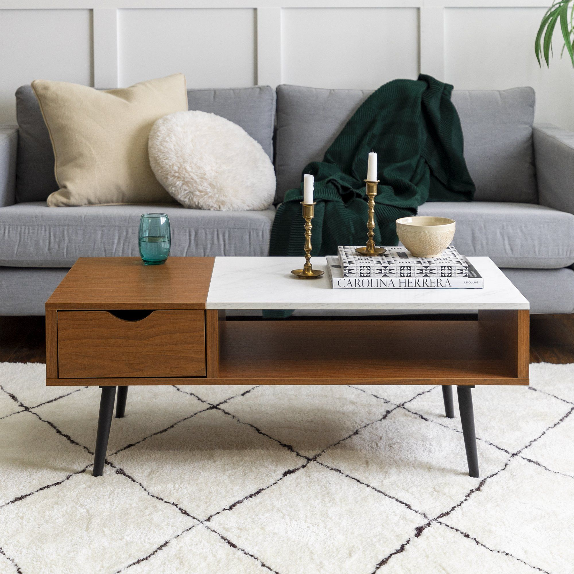 Juniper Coffee Table In 2021 Faux Marble Coffee Table Coffee Table Coffee Table With Storage [ 2000 x 2000 Pixel ]