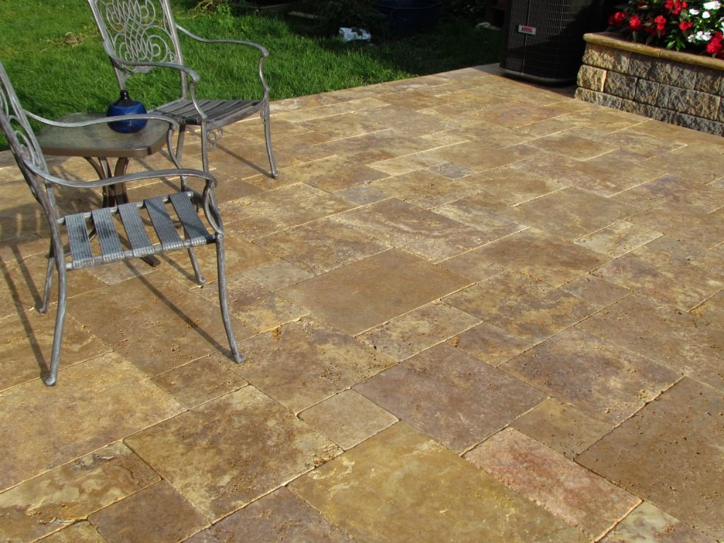 Travertine Patio Stones Antique Gold Travertine French