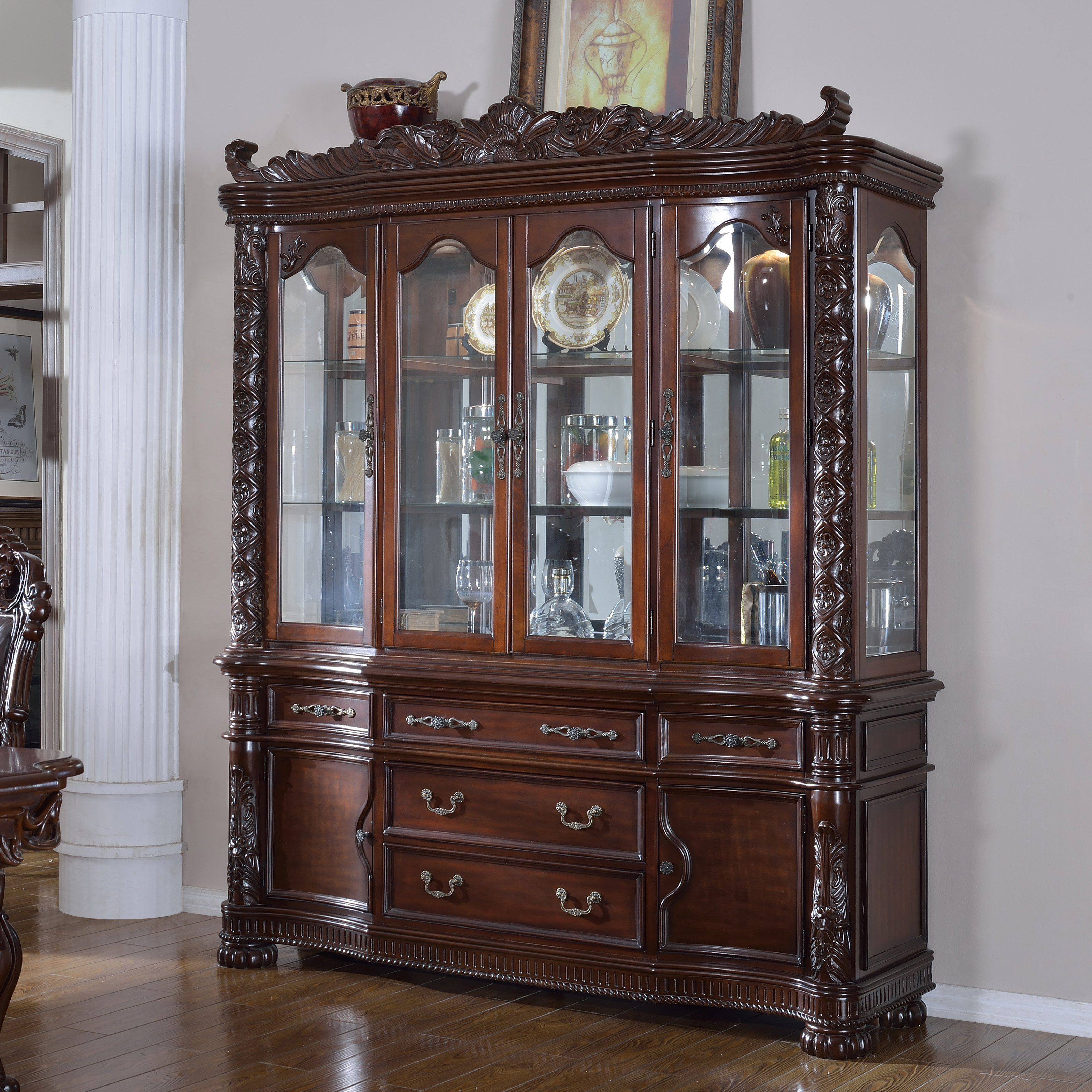 Meridian furniture barcelona china cabinet hb products