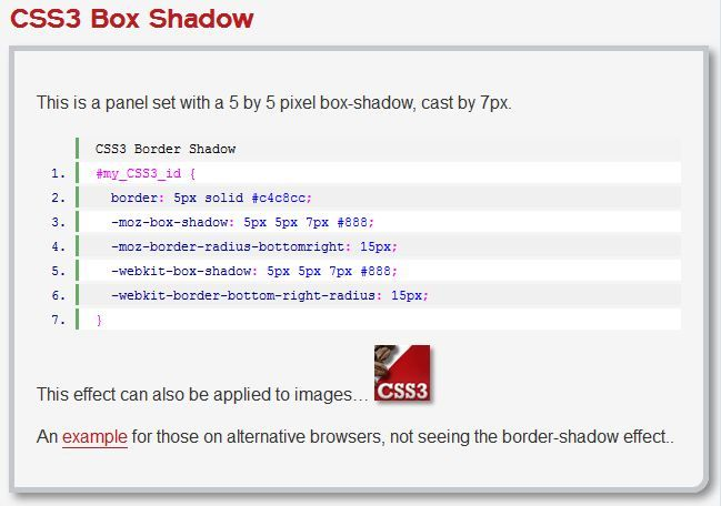 CSS3 Box Shadow (only visible in Safari)    http://www.zenelements.com/blog/css3-box-shadow/