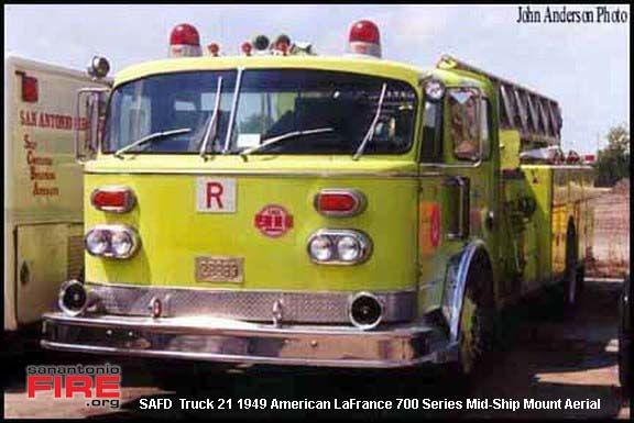 San Antonio Fire Department American Lafrance Ladder Trucks Fire