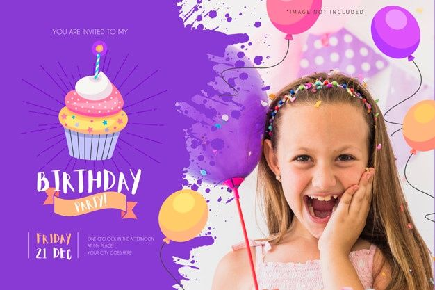 Photo of Download Birthday Party Invitation For Kids With Funny Cupcake for free