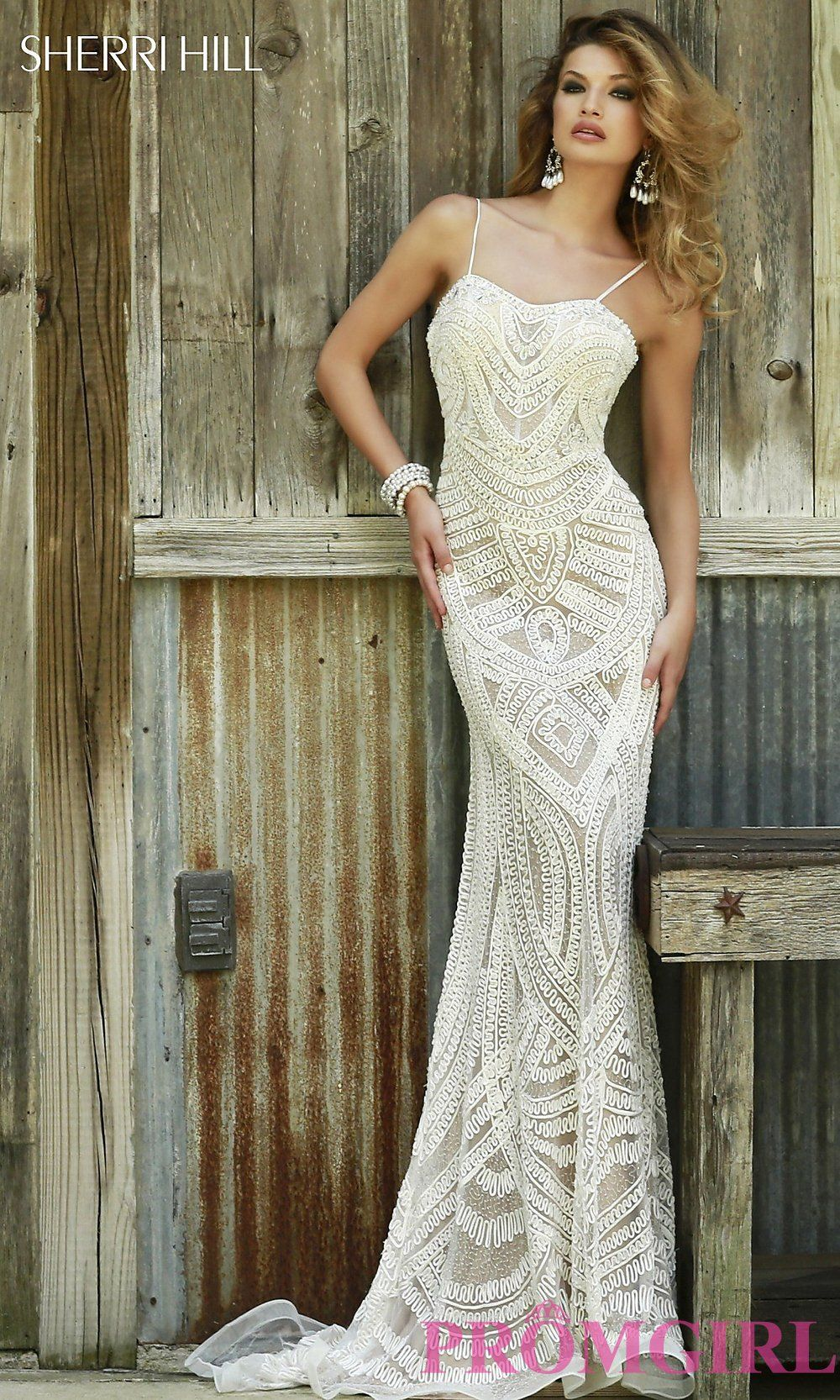 Sherri hill lace wedding dress  Prom Dresses Celebrity Dresses Sexy Evening Gowns  PromGirl Full