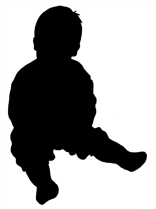 Beautiful Silhouettes Of Children Baby Silhouette Silhouette Silhouette Images