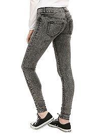 HOTTOPIC.COM - LOVEsick Black Acid Wash Super Skinny Jeans