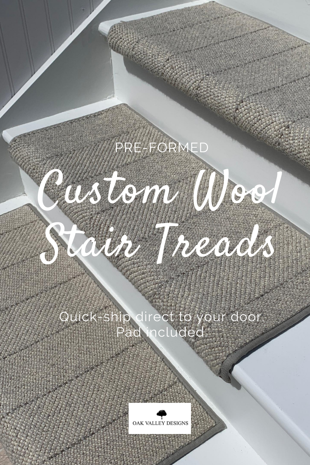 New Oak Valley Wool Tailored Stripe Oak Valley Designs In 2020 Stair Treads Carpet Stairs Carpet Stair Treads