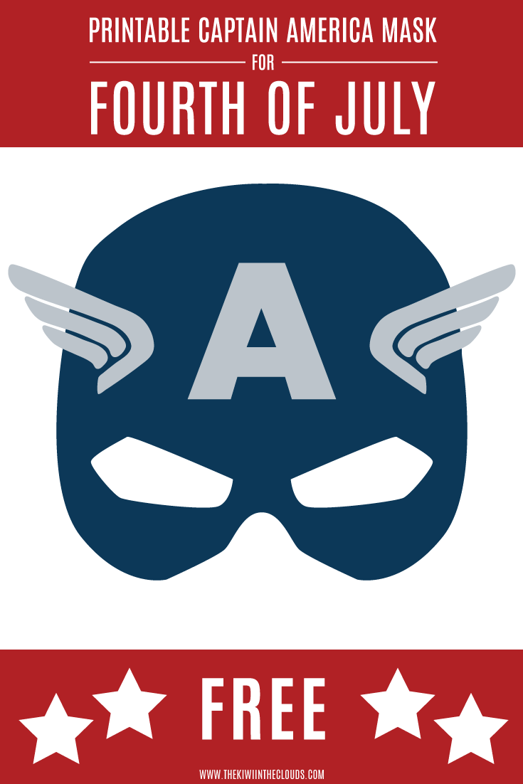 image regarding Captain America Mask Printable named This Printable Captain American Mask Will Pleasure Your
