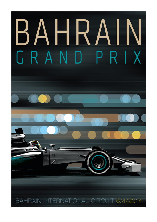 Guy Allen — Bahrain Grand Prix 2014 poster