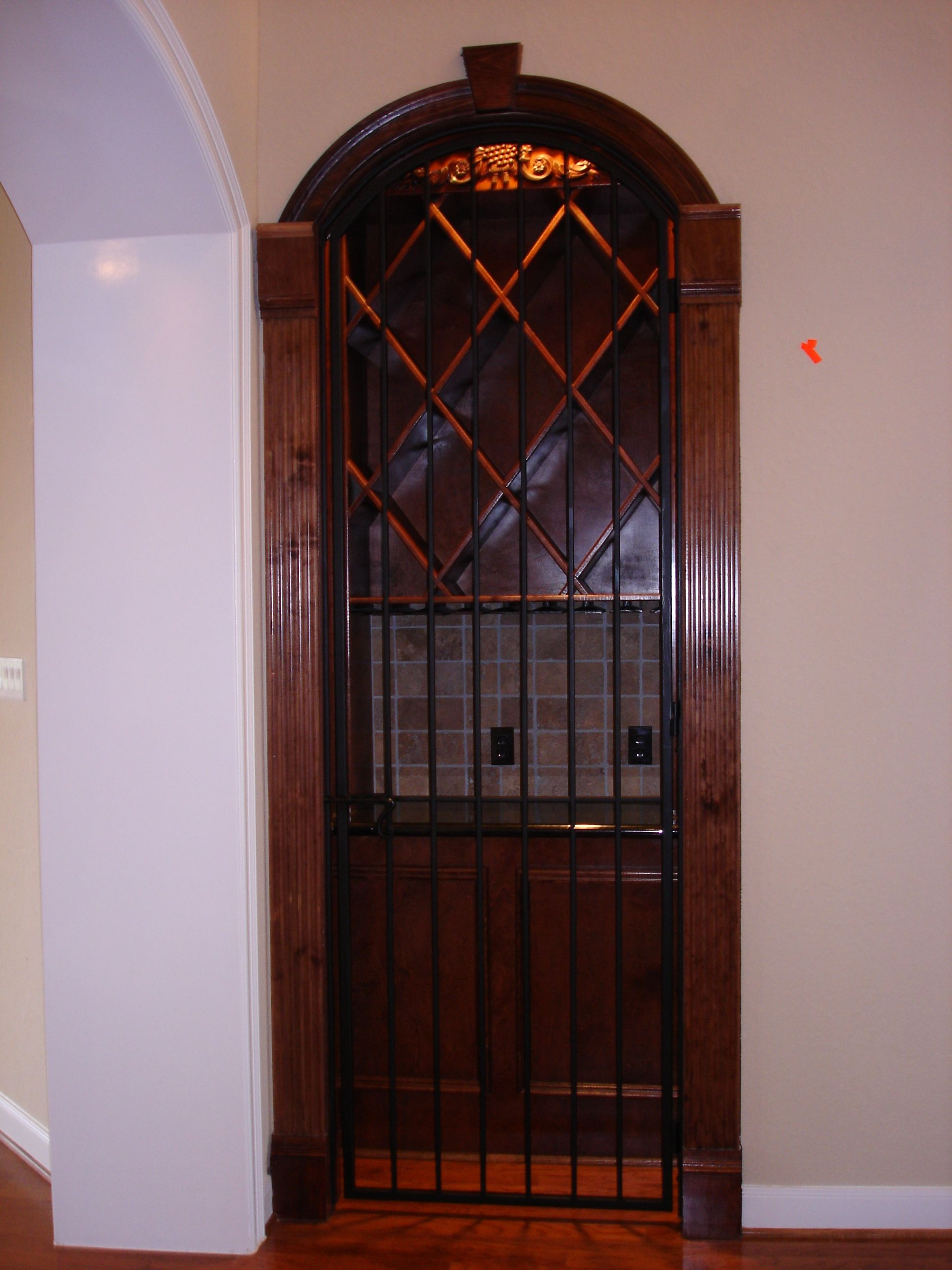 This Custom Cellar Door Design Was Created Using Our Fabricated