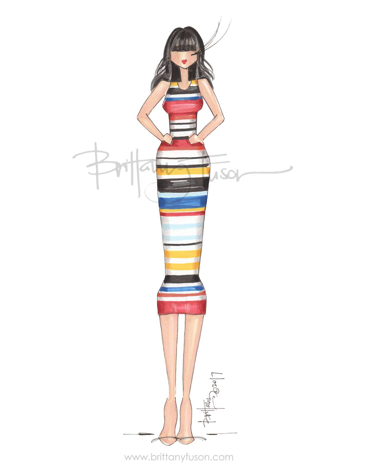 primary colors | fashion illustration | Brittany Fuson| Be Inspirational ❥|Mz. Manerz: Being well dressed is a beautiful form of confidence, happiness & politeness