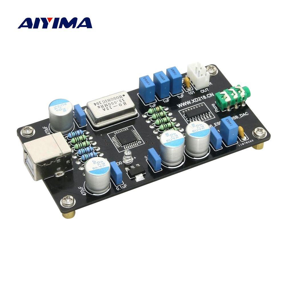 Aiyima Pcm2706 Es9023 Usb Audio Dac Sound Card Board Hi Fi Zero Noise I2s Decoding Sound Card Audio Hifi