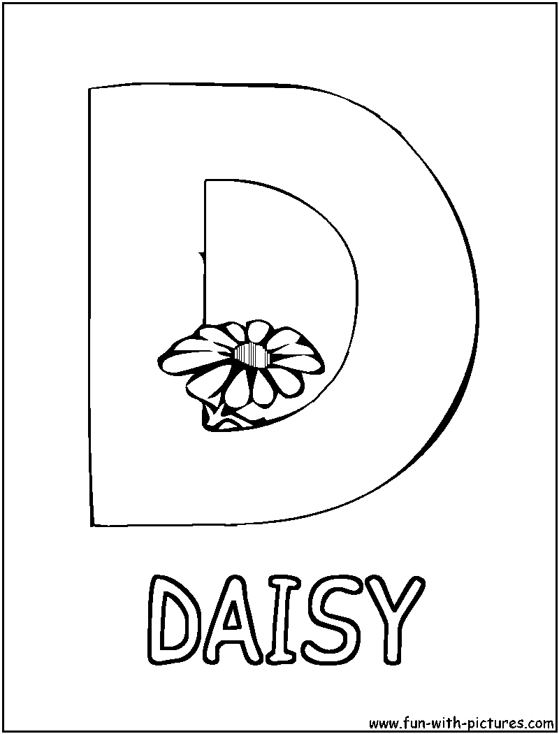 Daisy Girl Scout Coloring Pages | Picture Alphabets D Coloring Page ...