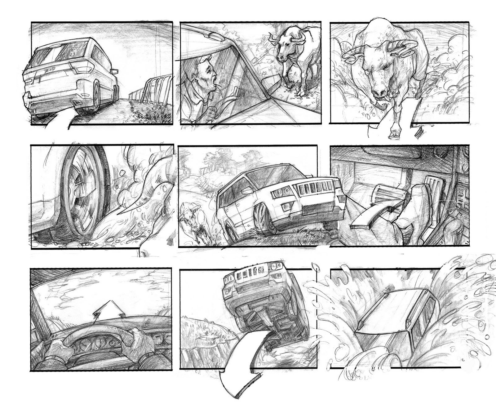 Commercial Storyboard Example  Storyboards