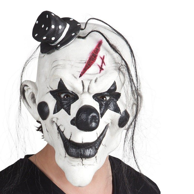 Masque de clown psychopathe circus halloween pinterest masque de clown psychopathe et - Maquillage de clown facile ...