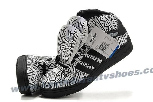 Adidas X Jeremy Scott 3 Tongue Shoes Zebra Online