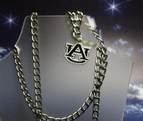 Auburn Tigers Necklace or Rear View Mirror Charm by joolrylane, $28.00