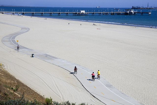 Belmont Pier And Bike Path In Long Beach Ca