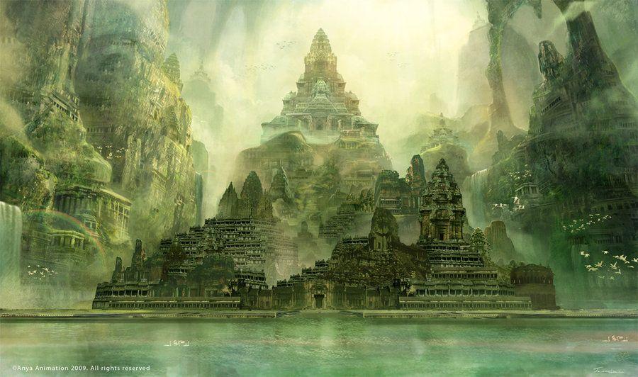 landscapes castles fantasy art - photo #15