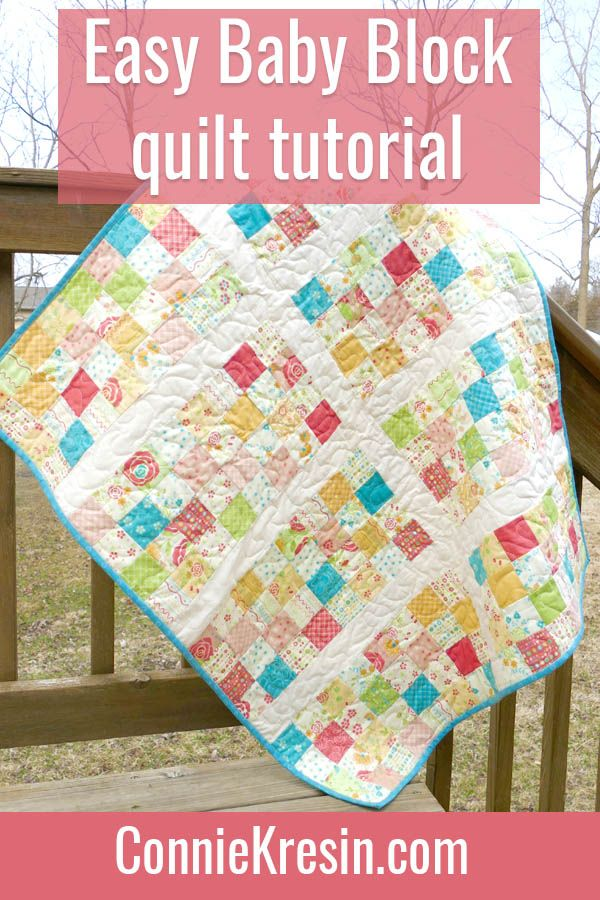 Easy Baby Block Quilt For Beginners Quilting For Beginners Baby Quilt Tutorials Quilt Tutorials