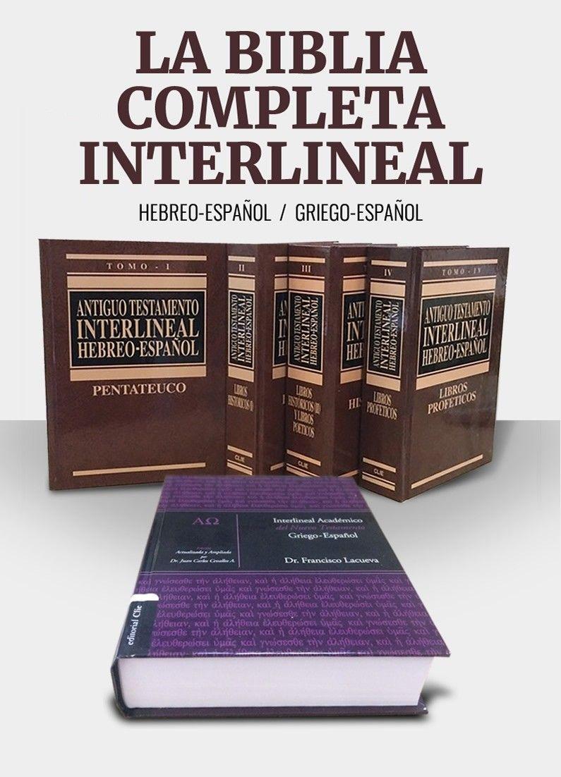 La Biblia Completa Interlineal Biblia Biblia Cristiana Libros De La Biblia