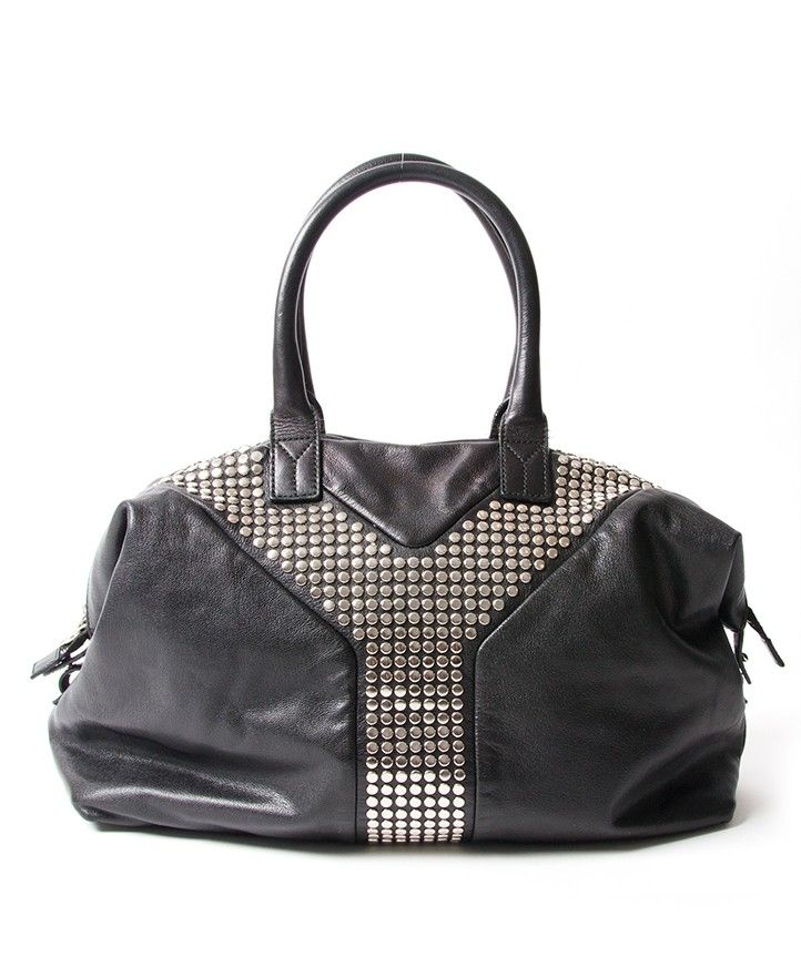 b0b4df24dda1 buy safe online yves saint laurent easy y studded tote bag best price  online secondhand