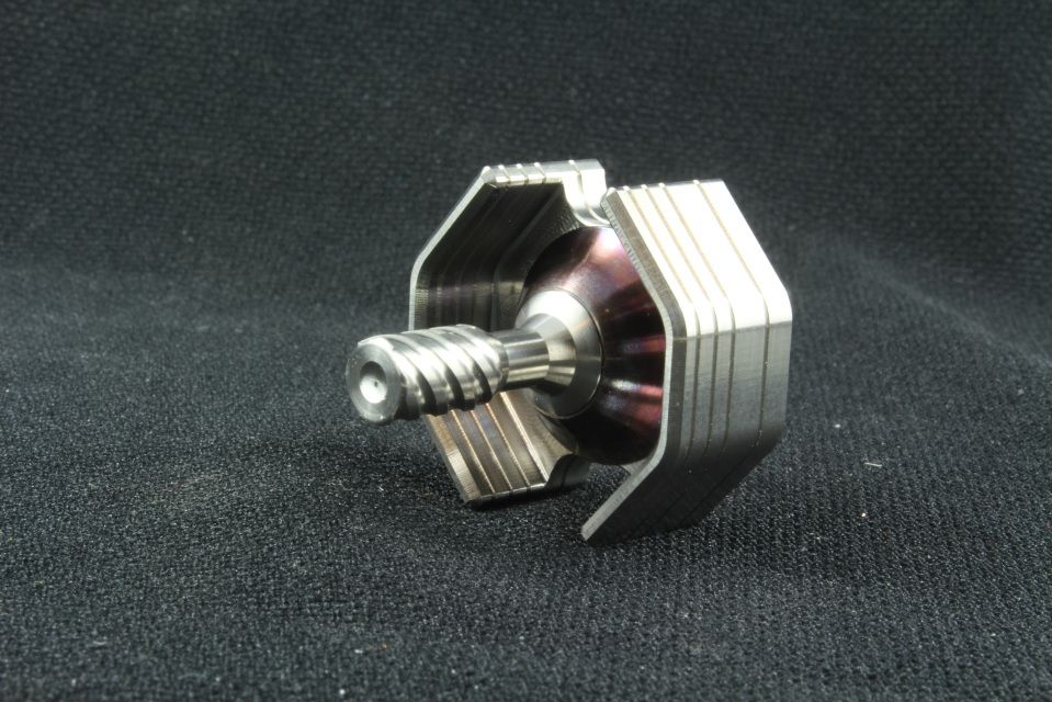 Stainless Steel/Blued Stainless Steel/Stainless Steel Ti Fighter Spinning Top