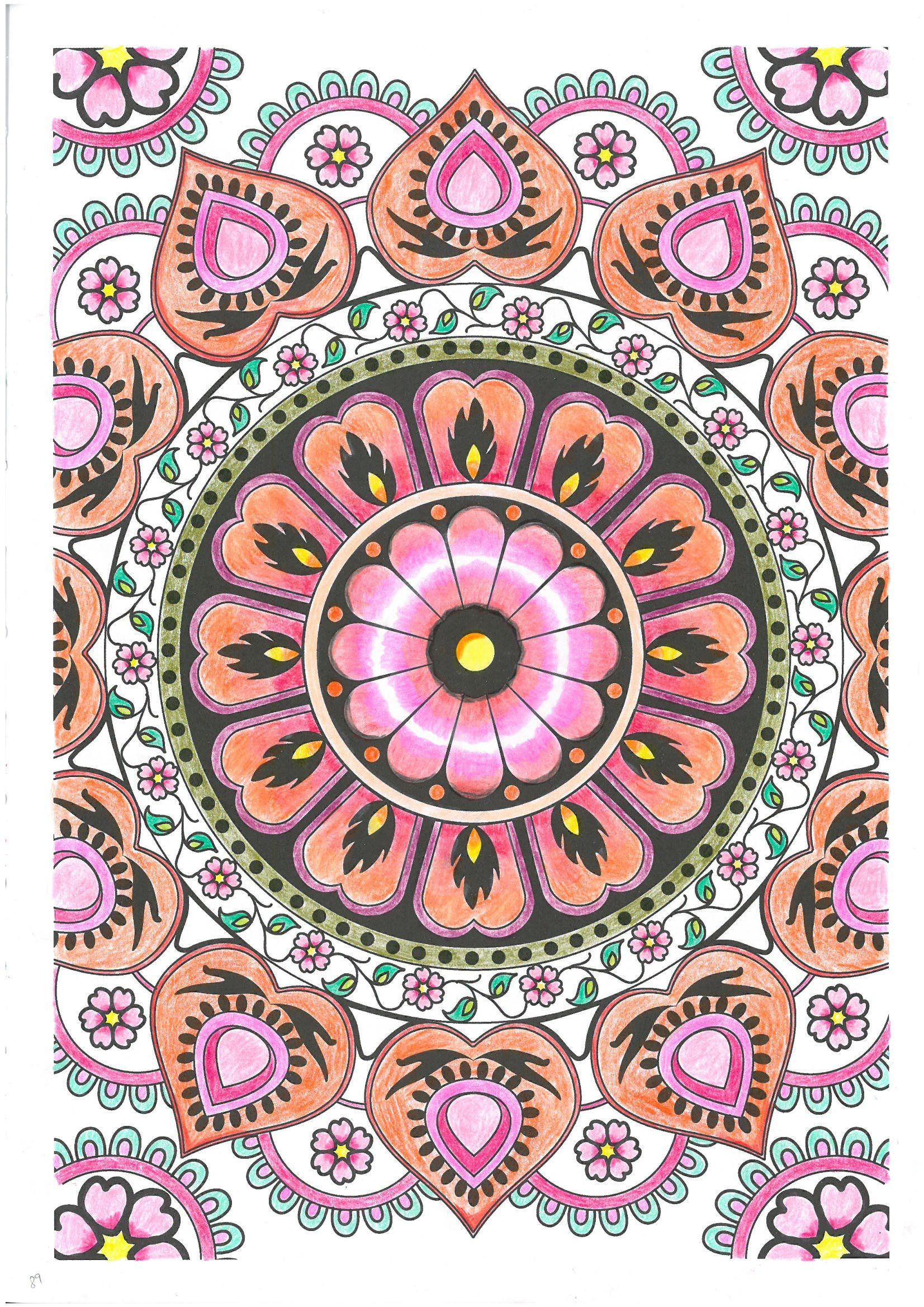 Pag 89 colorir arte terapia mandalas pintado a lpis Art