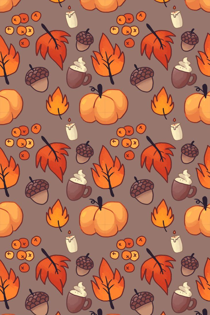 I ended up making a fall pattern as my nightly drawing