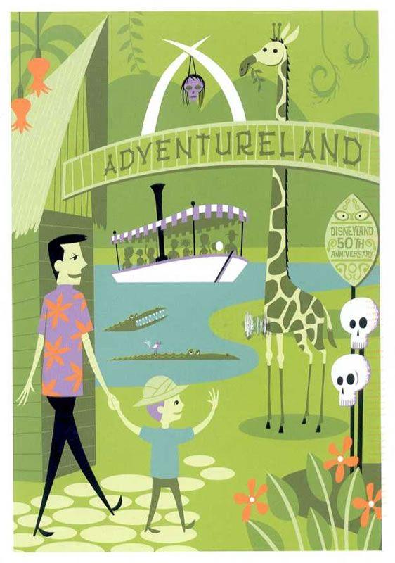 """Adventureland"" by Shag, for Disneyland's 50th Anniversary ..."