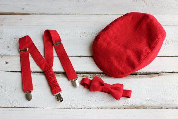 Red christmas newsboy flat cap b6b7e760f617