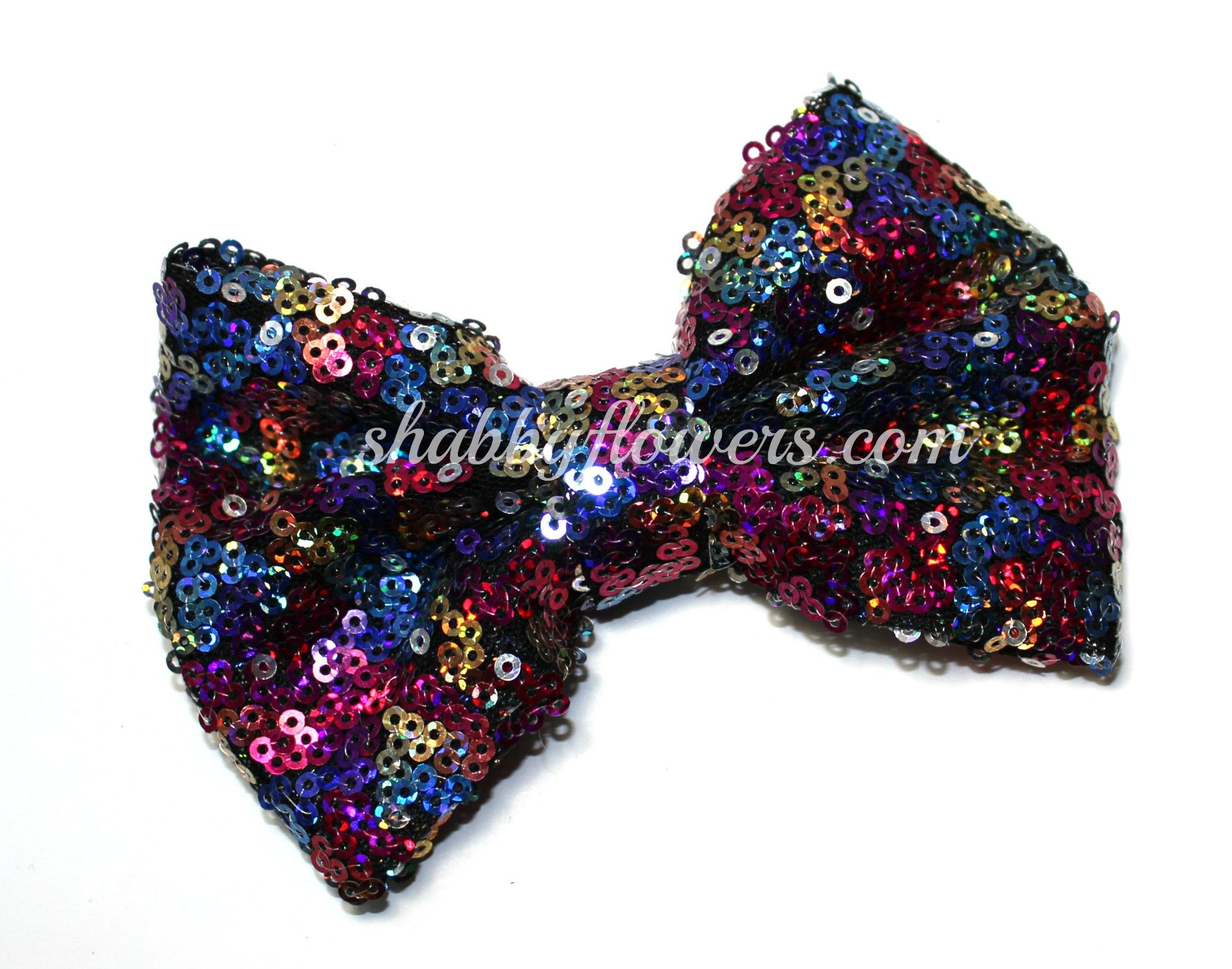 Large Sequin Bow in Multicolor