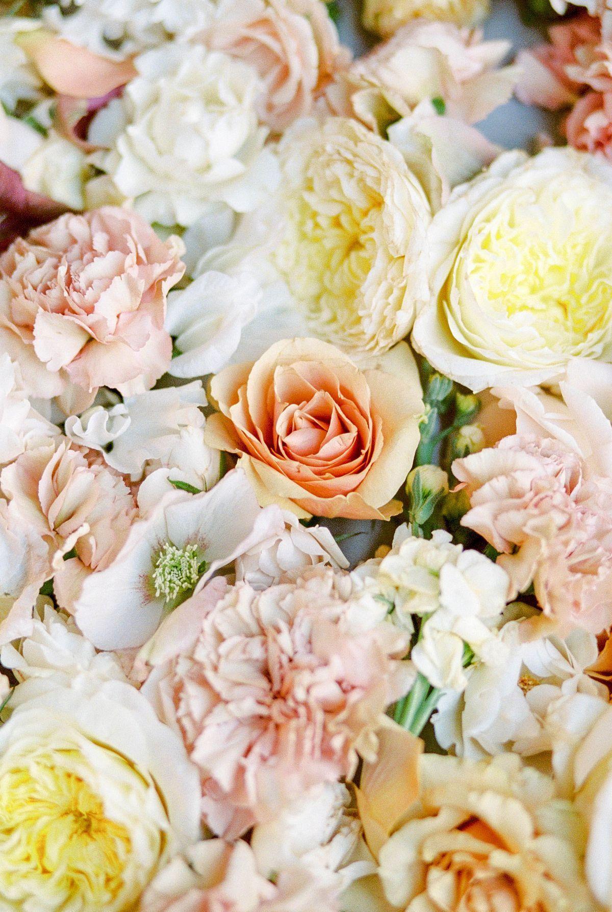 Peach And Pale Yellow Bridal Inspiration Weddingflowerssummer