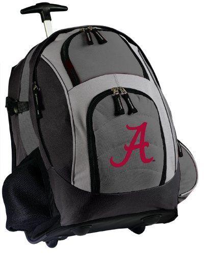 University of Alabama Rolling Backpack Deluxe Gray Alabama Crimson ...