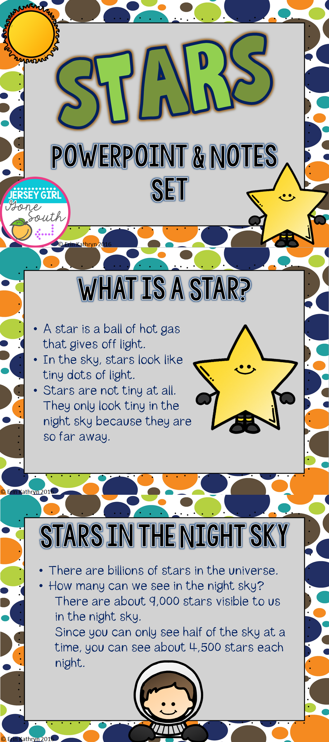 Stars Powerpoint And Notes Set Powerpoint Science Notes Student Learning [ 2386 x 1060 Pixel ]
