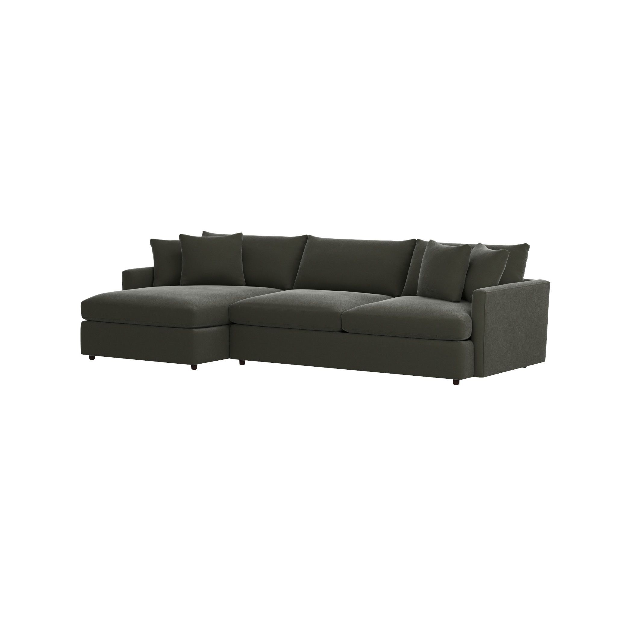 Elegant Lounge II 2 Piece Sectional Sofa. Grey Chaise ...