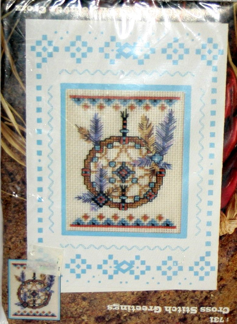 Cross Stitch Greetings Card Kit 731 Southwestern American Indian