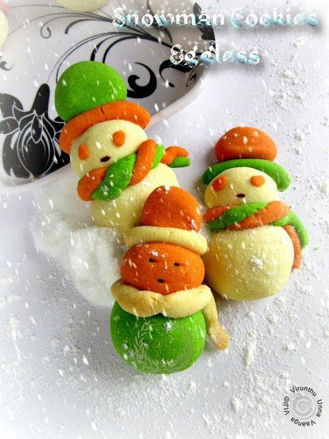 AMERICAN SNOWMAN COOKIES - EGGLESS I CHRISTMAS RECIPES