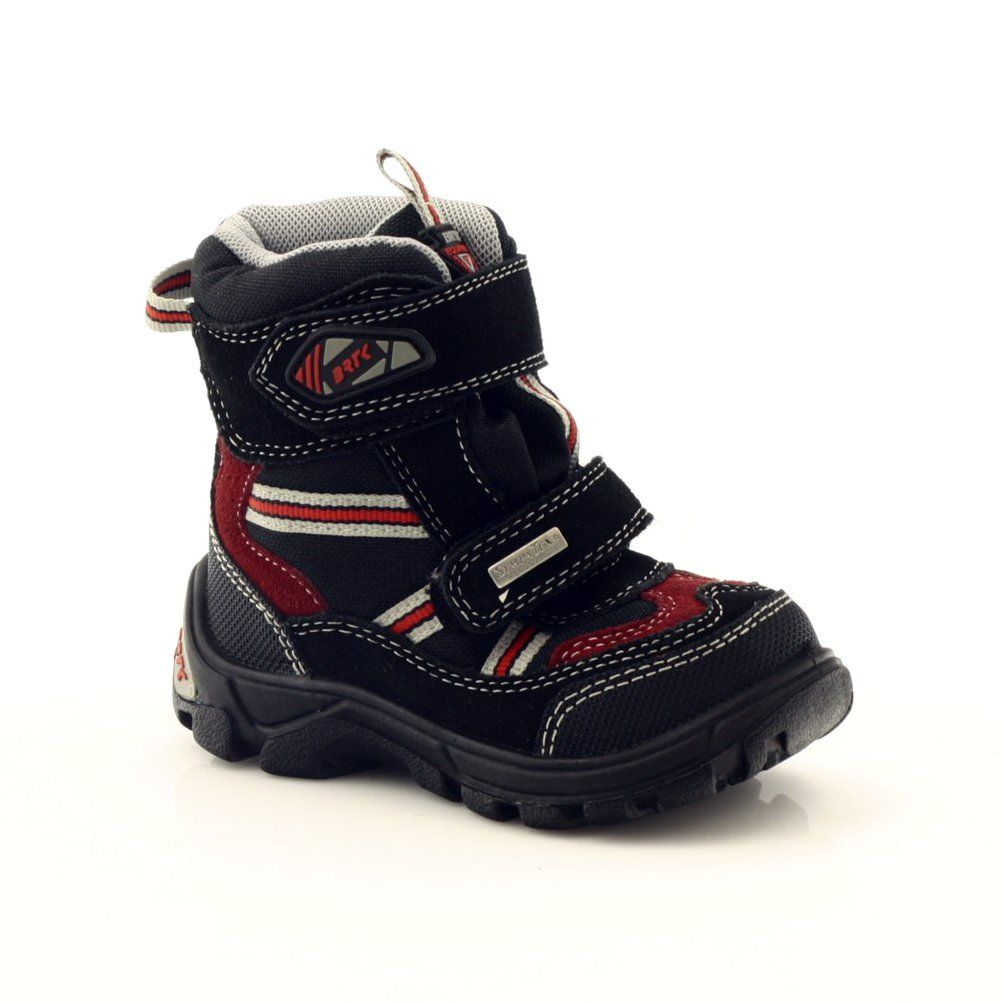 Shoes With A Membrane Bartek 11931 Black Red Grey Boots Childrens Boots Kid Shoes