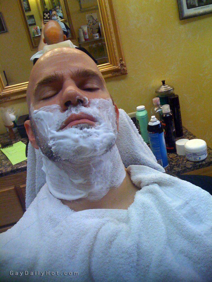 Gay fetish shaving