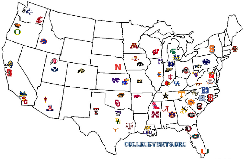 This is a map with links to the schedules of every BCS ...
