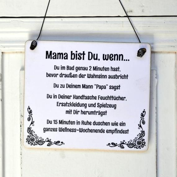 Funny Wooden Sign Deco Sign MAMA BIST YOU, IF...