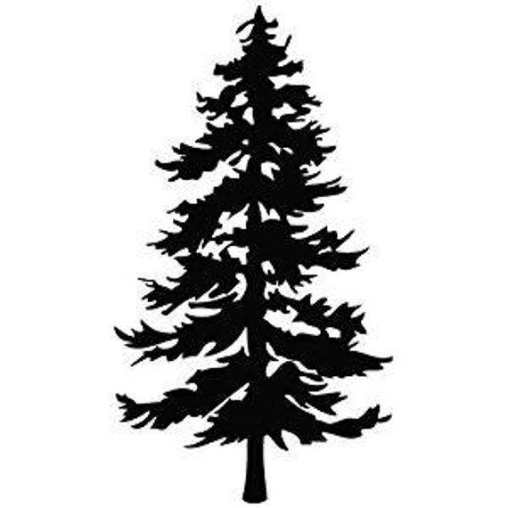 Evergreen Tree Decorative Sticker For Wall Car Ipad